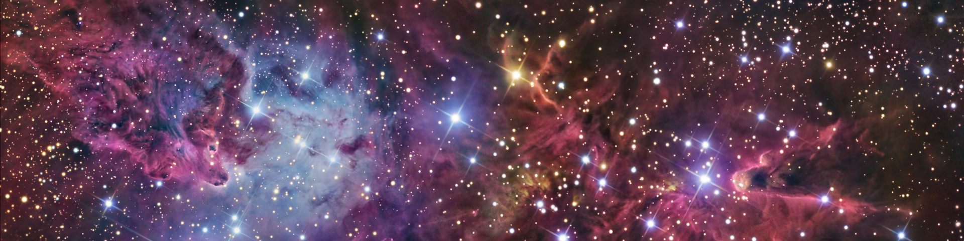 Nebulae and star clusters.
